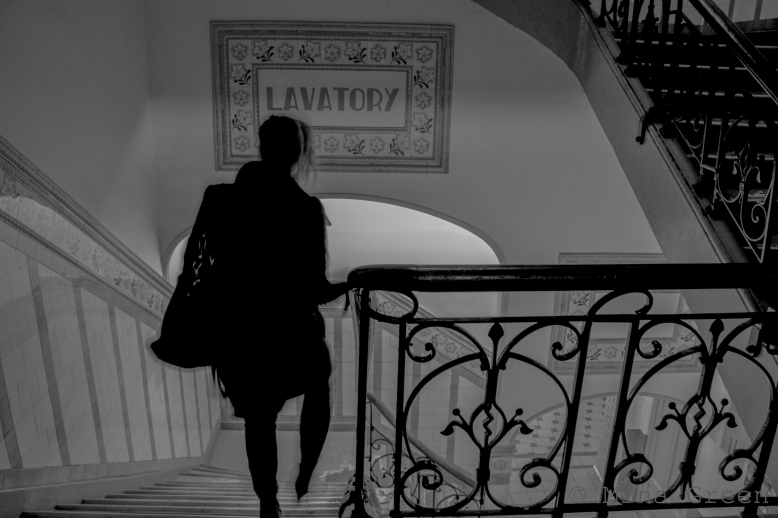 Lady going to her room
